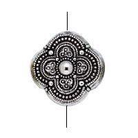 BC Akrylový korálek květina - pokov starostříbro - 22 x 22 mm