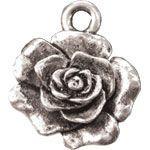 BC Kovový přívěsek růže - jednostranný