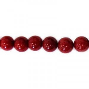 BC Červený korál - barvený - kulička - různé průměry