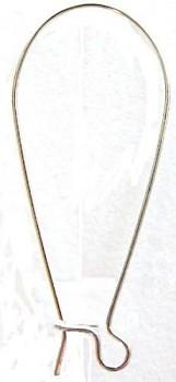 BN Afroháček s pojistkou cca 30 x10 mm - stříbro