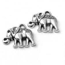 BN Kovový přívěsek slon - starostříbro