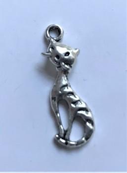 BN Kovový přívěsek kočka - starostříbro