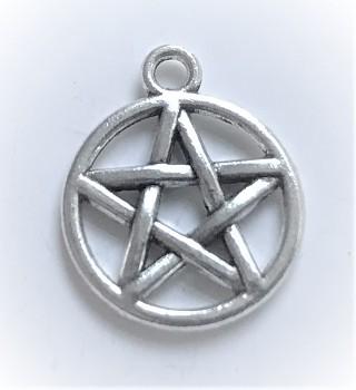 BN Kovový přívěsek pentagram malý - starostříbro