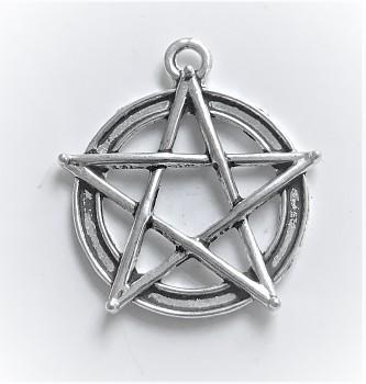 BN Kovový přívěsek pentagram velký - starostříbro