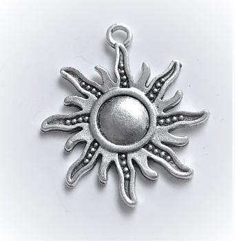 BN Kovový přívěsek slunce - starostříbro