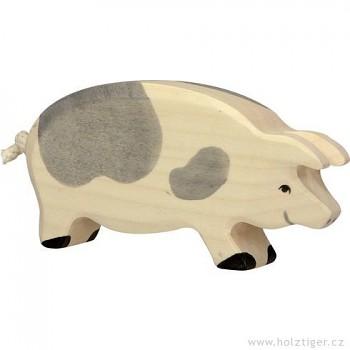 HOLZTIGER Stojící strakatá prasnice – dřevěné zvířátko