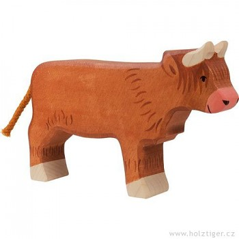 HOLZTIGER Skotská náhorní kravička – zvířátko ze dřeva