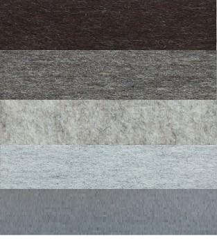 Filc 100% vlna - síla 10 mm - metráž šíře 183 cm - délka 25 cm - různé barvy