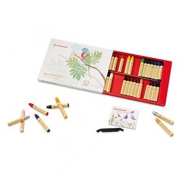 STOCKMAR Voskové pastelky - 32 barev v papírové krabičce