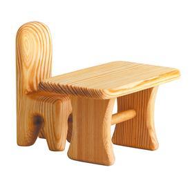 DEBRESK Židle pro panenku - dřevěná