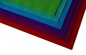 Filc 100% vlna - síla 1 mm - metráž šíře 183 cm - délka 25 cm - různé barvy