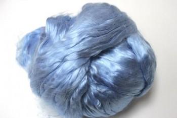 Hedvábné vlákno 5 g - modrá světlá