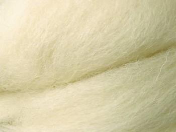 Ovčí vlna přírodní česaná 1g - hrubá - krémová