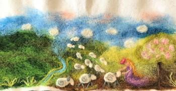 """Workshop """"Obrázky malované ovčí vlnou"""""""