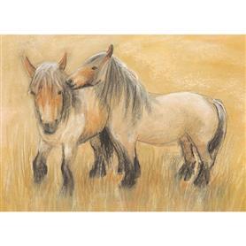 AMS Obrázek Marjan van Zeyl - Praví brabantští koně