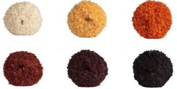 Vlnitá mohérová příze na vlasy panenek - různé barvy