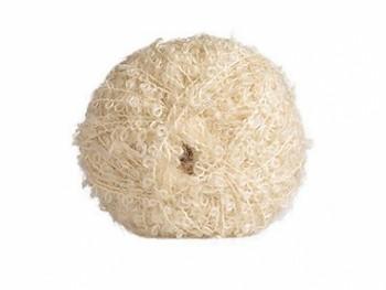 Vlnitá mohérová příze na vlasy panenek - bílá