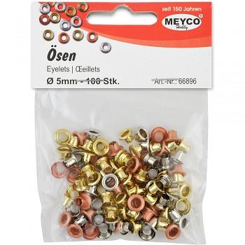 MEYCO Kovová očka do očkovacích kleští - mix barev