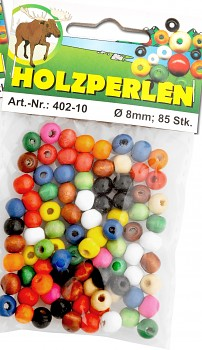 MEYCO Dřevěné korálky kulaté - průměr 6 mm - mix barev
