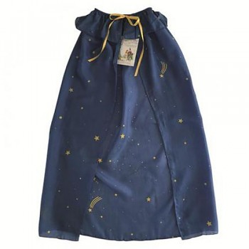 SARAH'S SILK Hedvábný plášť - modré nebe s hvězdami