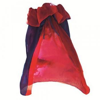 SARAH'S SILK Hedvábný plášť modro-červený