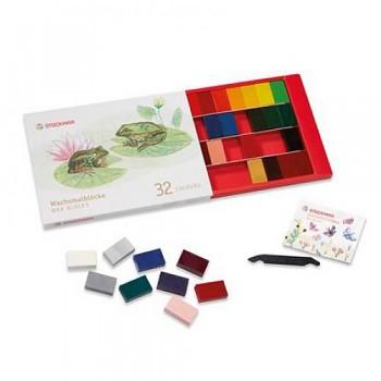 STOCKMAR Voskové bločky - 32 barev v papírové krabičce