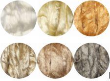 Hedvábné vlákno přírodní 5 g - různé odstíny