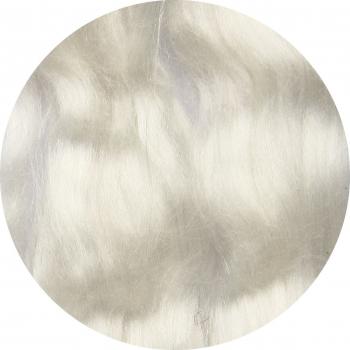 Hedvábné vlákno přírodní 5 g - bílá