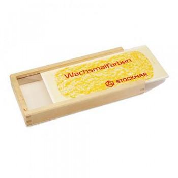 STOCKMAR Prázdná dřevěná krabička na 16 bločků či pastelek