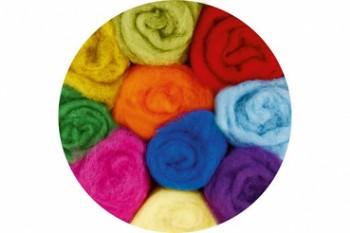 Ovčí vlna barvená mykaná extra jemná 10 g - různé barvy