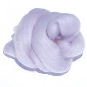Ovčí vlna barvená česaná 10g - jemná - 53 fialová světlá