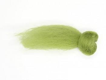 Ovčí vlna barvená česaná 10g - jemná - 66 zelená světlá