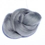Ovčí vlna barvená česaná 10g - jemná - 38 šedá světlá