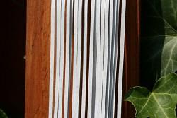 Kožený řemínek hranatý - vepřovice - 11 bílý