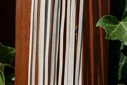 Kožený řemínek hranatý - vepřovice - krémový