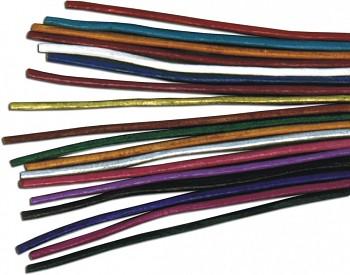 Kožený řemínek kulatý - kozinka - různé barvy